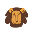 cute lion head with kind face design element can vector image