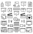 Designer Website Icons vector image
