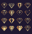 diamond logo stylized geometrical jewelry vector image vector image
