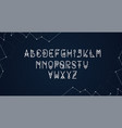 digital alphabet with circles on a blue background vector image