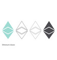 ethereum classic chrystal set vector image vector image