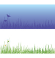 field grass day and night vector image