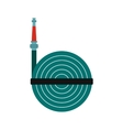 Fire hose winder roll reels icon vector image