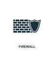 firewall icon premium style design from security vector image vector image
