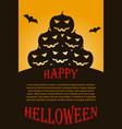 flyer with dark halloween pumpkins vector image vector image