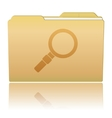 Folder with Magnifier vector image vector image