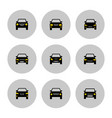 front view cars icon with yellow lights vector image vector image