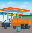 Gas Station design vector image vector image