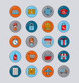 global logistic icons set cartoon vector image vector image