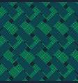 green and blue fabric style pattern background vector image vector image
