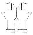 hands human up icon vector image