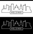 helsinki skyline linear style editable file vector image vector image