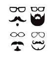 Hipster style silhouette vector image vector image