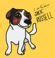 i am handsome jack russell cartoon vector image