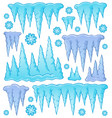 icicle theme image 1 vector image