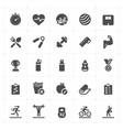 icon set - fitness filled icon style vector image