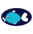 image blue fish or color vector image vector image