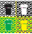 Ipanema beach pattern set of t-shirts vector image