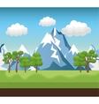 landscape mountain green river design vector image vector image