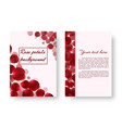 leaflet with rose petals vector image vector image