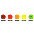 leave feedback satisfaction scale with color vector image vector image