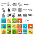 logistics and delivery flat icons in set vector image vector image
