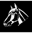 Logo symbol sign stencil horse headUnique vector image