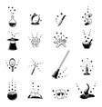 magic icons set vector image vector image