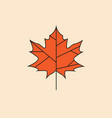 maple leaf icon autumn season concept vector image vector image