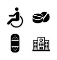 medical simple related icons vector image vector image