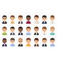 men faces avatars in flat design vector image vector image