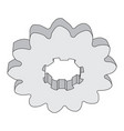 monochrome image of metal gears vector image vector image