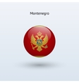 Montenegro round flag vector image