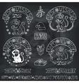New Year 2016 Monkey labelsdecorationChalkboard vector image vector image