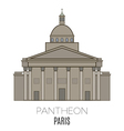 Pantheon Paris vector image vector image