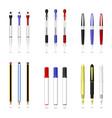 pen pencil and marker a set of pen pencils marker vector image