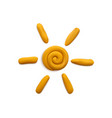 plasticine summer sun composition vector image vector image