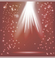 red rays of magic light vector image vector image
