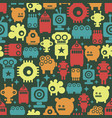 seamless wallpaper with robots from stars vector image vector image