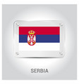 serbia stamp design vector image