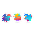 set of abstract flowing liquid elements colorful vector image vector image