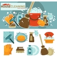 Set of cleaning service symbols vector image vector image