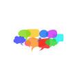 set of dialogue speech bubbles social network vector image vector image