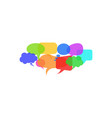 set of dialogue speech bubbles social network vector image