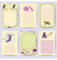 Set printable journal cards Bright collection with vector image