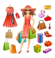Shopping Elements Set vector image vector image