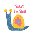 slow snail vector image vector image