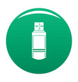 small flash drive icon green vector image vector image