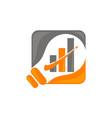 smart business idea logo design template vector image