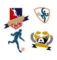 soccer football badge logo design templates sport vector image
